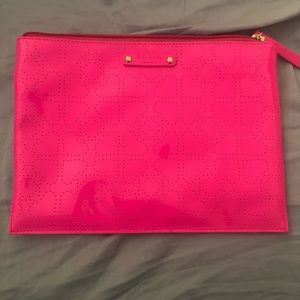 Kate spade patent leather hot pink makeup case